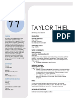resume taylorthiel