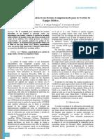 Sistema Computarizado Para Gestión de Equipamiento Médico