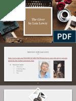gr 8 novel study  the giver