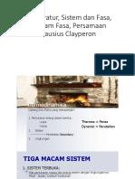 Temperatur, Sistem Termodinamika, Diagram Fasa_S1 Fisika