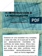 Introduccion a la negociación