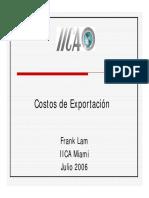 Costos de Exportacion