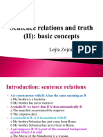 Sentence relations and thruth