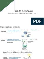 1 Teoria de Arrhenius
