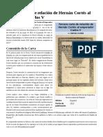 Tercera Carta de Relación de Hernán Cortés Al Emperador Carlos V