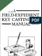 Paladin Press CIA Field-expedient Key Casting Manual 1988 7.02-2.6 Lotb