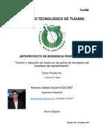 Anteproyecto - Reduccion de Costos en Las Partes de Reemplazo de Mantenimiento