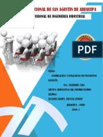 Formulación y Evaluación de Proyectos-EXAMEN