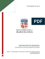Informe Obtención Biodiesel