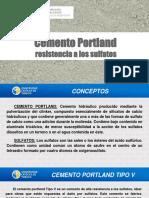 Cemento Portland Resistencia a Los Sulfatos