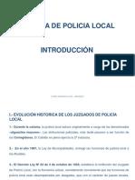 1 Justicia de Policía Local Introducción