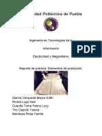 Reporte de practica electricidad y Magnetismo
