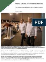 22-03-2019 Clausuran Astudillo Flores y AMLO la 82 Convención Bancaria en Acapulco.