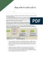 Understanding Order to Cash Cycle in Sap