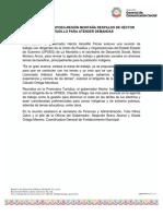 03-04-2019 RECONOCE LA  UPOEG-REGIÓN MONTAÑA RESPALDO DE HÉCTOR ASTUDILLO PARA ATENDER DEMANDAS