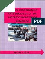 Plan de Contingencia Ante Sismos de La Ie Modesto Montesinos 2018