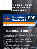 A study on Bank of India's CREDIT POLICIES