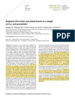 Regional Soil Erosion Assessment Based on a Sample Survey and Geostatistics