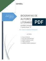 Biografias de Autores Literarios