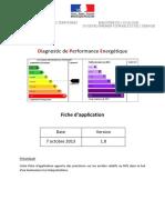 Fiche d'Application DPE 1.0 Du 07 10 13