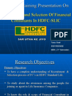 Recruitment and Selection of Financial Consultants