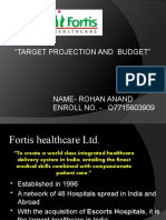 Target Projection and Budget