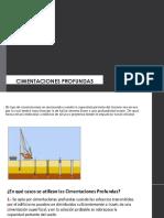 CIMENTACION PROFUNDA-MATERIALES