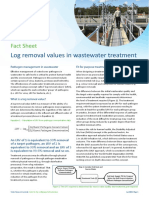 Log removal values in wastewater treatment