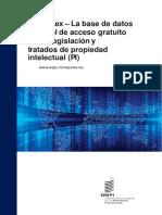 WIPO Lex – La base de datos mundial de acceso gratuito sobre legislación y tratados de propiedad intelectual