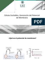 Celulas Excitables Generacion Del Potencial de Membrana (1)