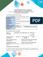 Guía de Actividades y Rúbrica de Evaluación - Tarea 2- Enzimología y Bioenergética