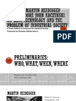 Relating Martin Heidegger and Theodore John Kaczynski