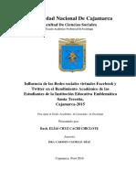 INFLUENCIA DE LAS REDES SOCIALES VIRTUALES Facebook y Twitter en el Rendimiento Académico de las .pdf