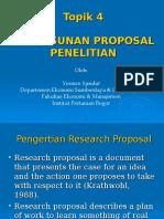 Topik 4 - Penyusunan Proposal Penelitian