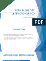 GPC DETERIORO CLINICO