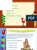 LA LITERATURA  EN LA HISTORIA