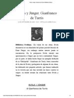 Evola y Jünger. Gianfranco de Turris | Biblioteca Evoliana