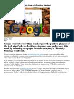 Whistleblower Leaks Google 'Diversity Training' Handout