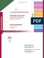 Consejo Tecnico Escolar - Sexta Sesion - Aprendizaje entre escuelas - Primaria - Ciclo escolar 2018-2019