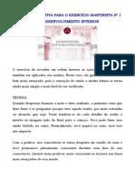 OUTRA PERSPECTIVA PARA O EXERCÍCIO MARTINISTA No 1 DE DESENVOLVIMENTO INTERIOR