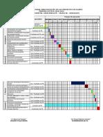 Cronograma General Para Ejecución de Los Proyectos Escolares