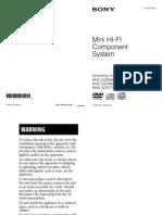 Sony Mini Hi Fi Mhc-gzr77d