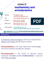 Lecture 15_Thermochemistry and Thermodynamics