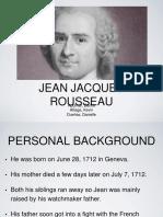 Jean Jacques Rosseau Report