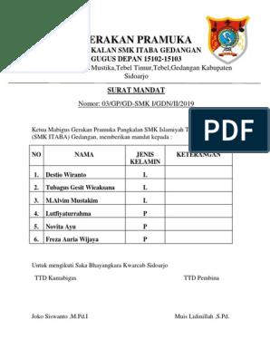 Surat Mandat Saka Bhayangkaradocx