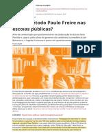 Existe Metodo Paulo Freire Nas Escolas Publicaspdf