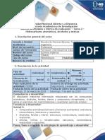 Guía de actividades y rúbrica de evaluación - Tarea 2 - Hidrocarburos aromáticos, alcoholes y aminas.docx