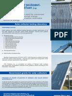 www.tsu.eu - Solar collector testing laboratory - Solar Keymark