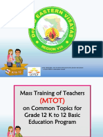 MTOT Common Topics-Lesson PLanning