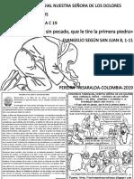 HOJITA EVANGELIO NIÑOS DOMINGO V CUARESMA C 19 BN COLOR